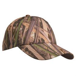 Jagd-Schirmmütze 100 Schilf Kinder camouflage