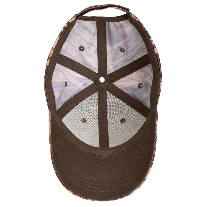 Warme pet voor de jacht kinderen 100 moerascamouflage