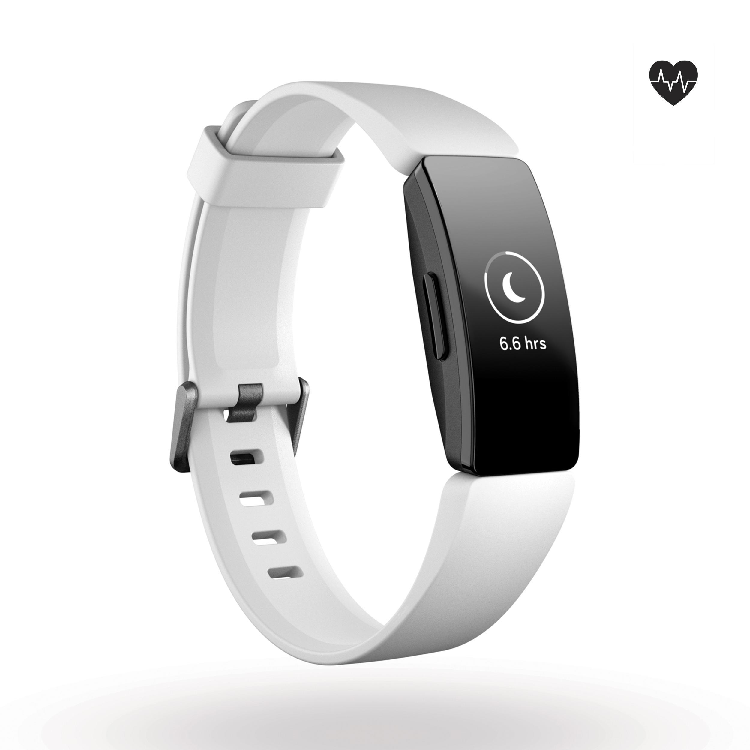Fitnessarmband Inspire HR mit Herzfrequenzmessung am Handgelenk weiß | Schmuck > Armbänder > Fitness-Armbänder | Fitbit