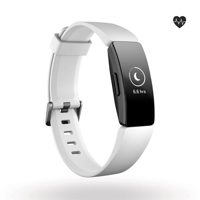 Fitnessarmband Inspire HR mit Herzfrequenzmessung am Handgelenk weiß