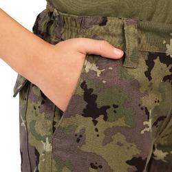 兒童款狩獵長褲-迷彩