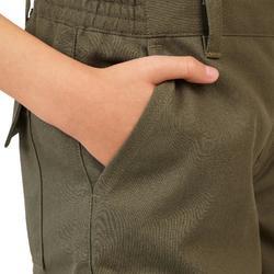 Pantalon Caza Solognac 100 Niños Reforzado Marron-Verde