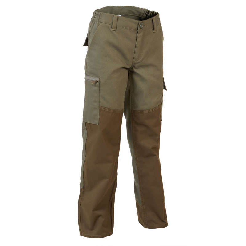 JUNIOR CLOTHING Shooting and Hunting - KIDS TROUSERS RENFORT 100 SOLOGNAC - Hunting and Shooting Clothing