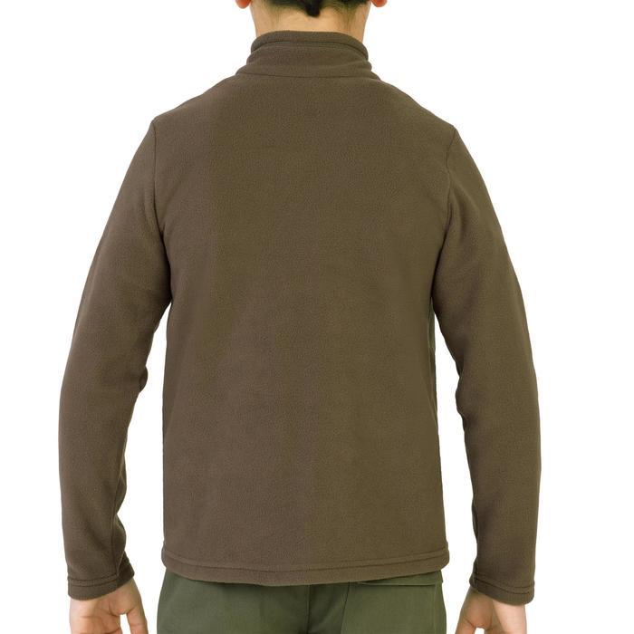 Fleece vest voor kinderen met halve rits 100 bruin