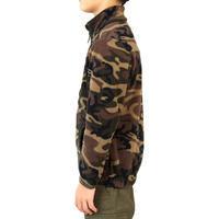 Junioru silta flīsa jaka, zaļa kamuflāža