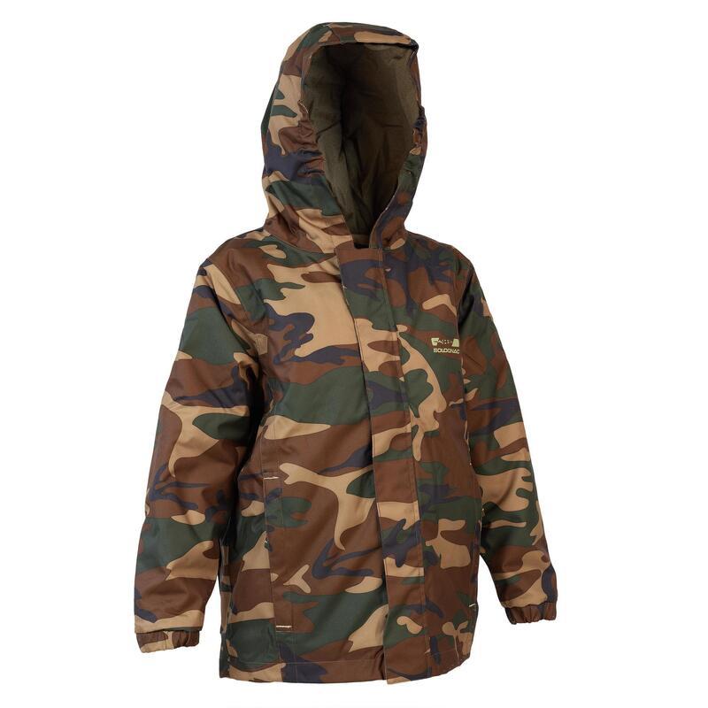 Veste chasse chaude 100 junior camouflage vert