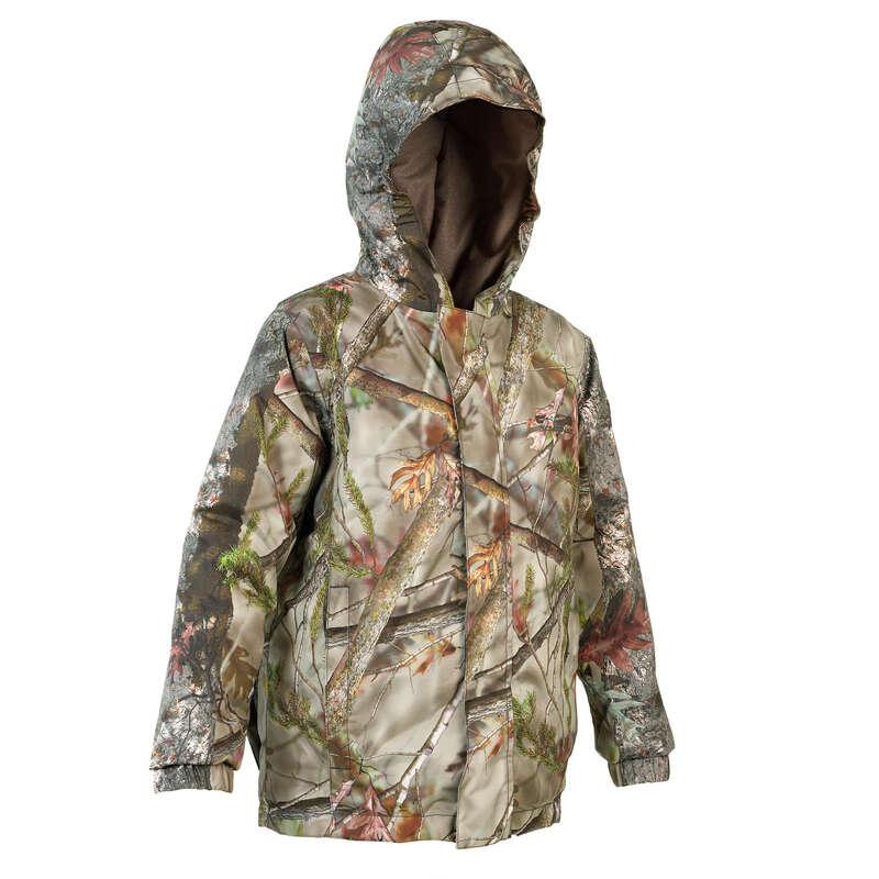 Kinderbekleidung Jagd Jagd und Sportschiessen - JACKE SIBIR 300 KINDER BRAUN SOLOGNAC - Jagdbekleidung