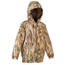 Jagd-Regenjacke Schilf warm Sibir 300 Kinder camouflage