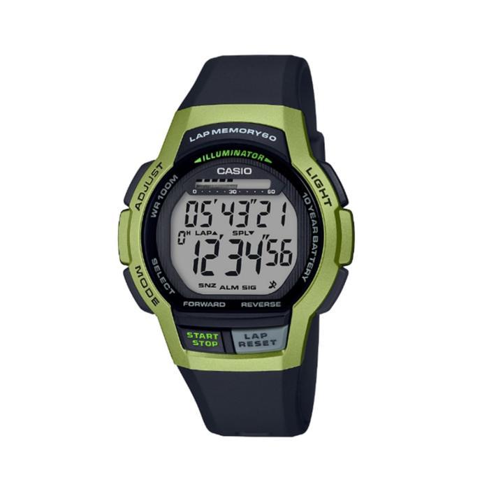 Reloj Cronómetro Running Casio LWS-1000H 3AVEF Negro/Amarillo