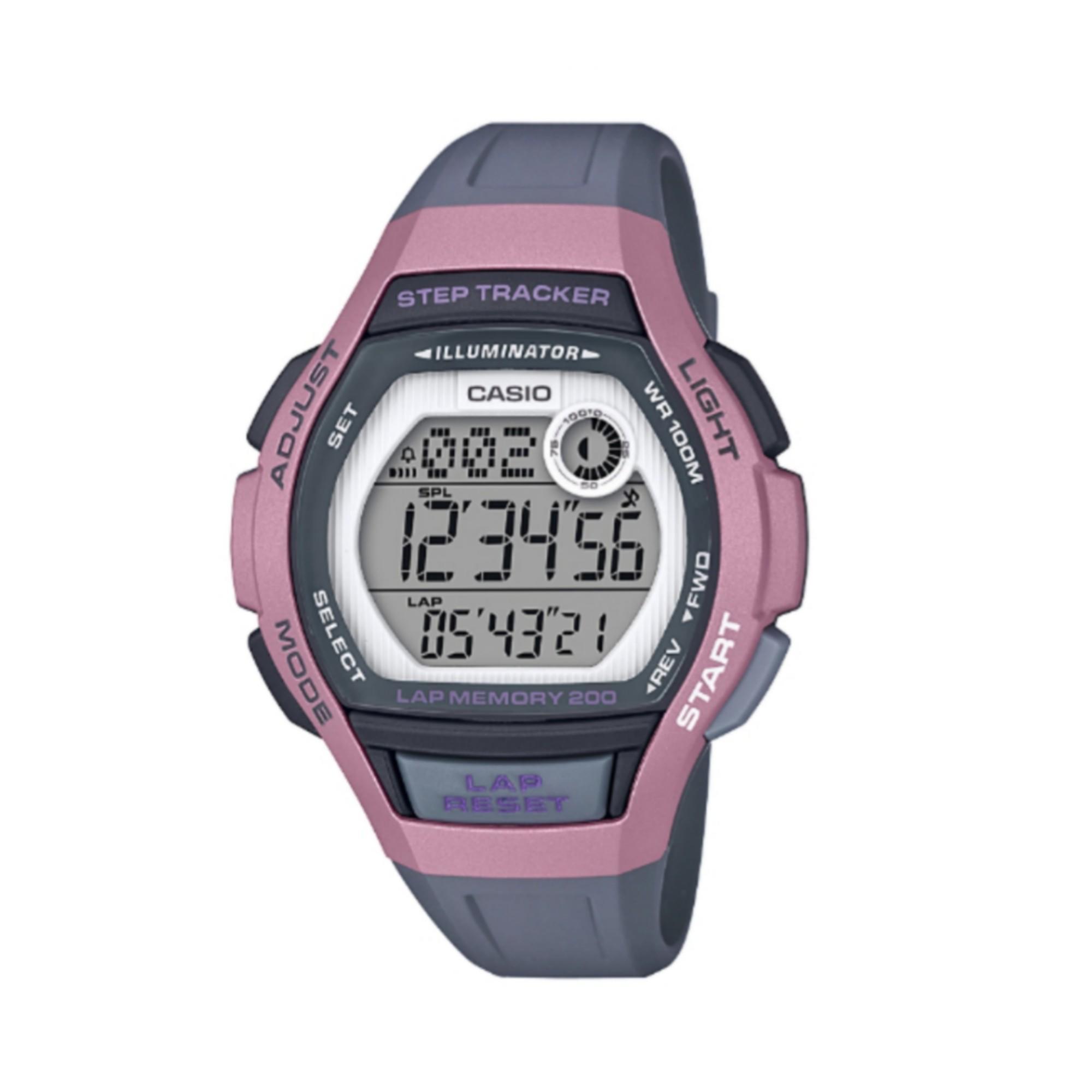 3de5afdbca6d Reloj Cronómetro Running Casio LWS-1000 4AVEF Gris Rosa Casio ...