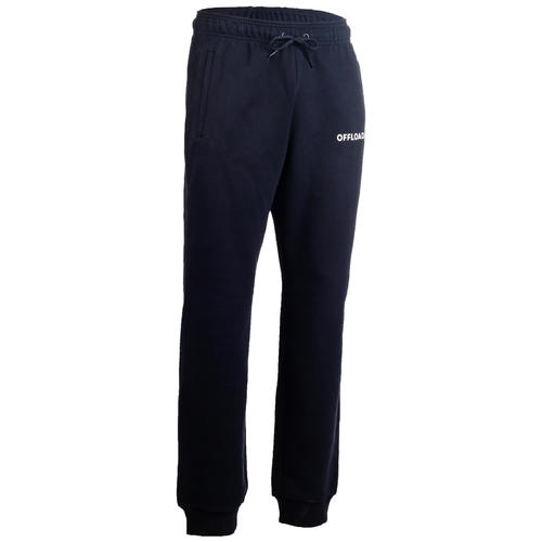 PANTALON MOLLETON CLUB RUGBY R500 ADULTE bleu