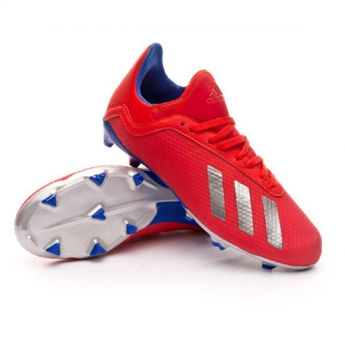 Fußballschuhe Nocken X 18.3 FG Erwachsene rot