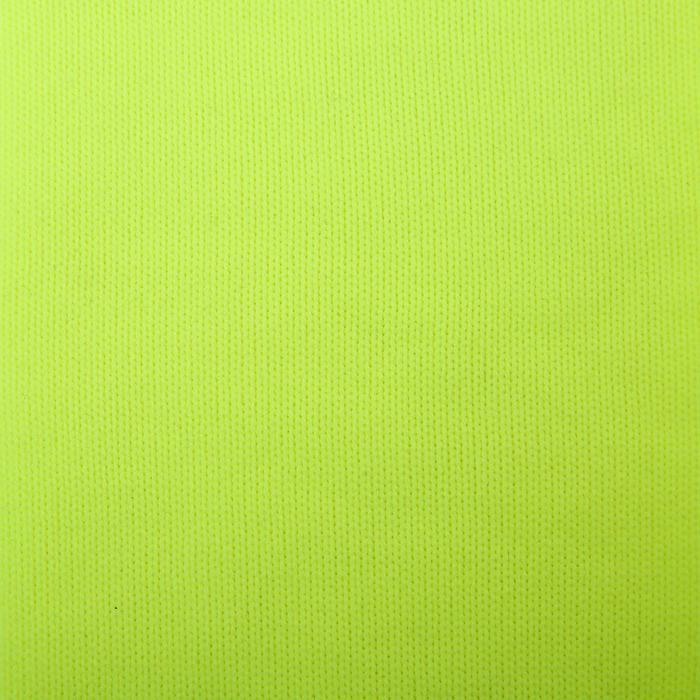 Medias de fútbol rayadas júnior F500 amarillo fluo