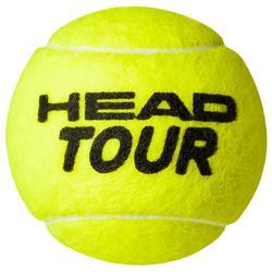 BALLES DE TENNIS DE COMPETITION TOUR*4 JAUNE