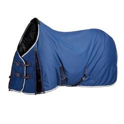 Manta de cuadra equitación caballo y poni STABLE 300 azul turquí