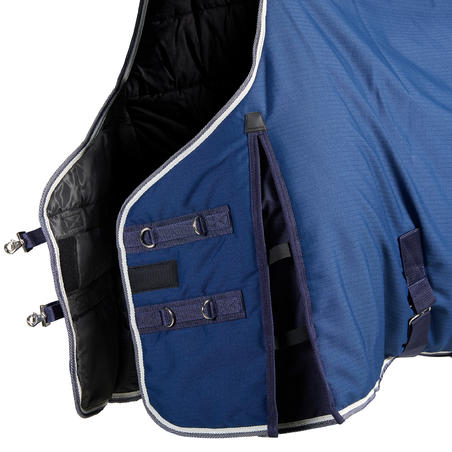 Stable 300 Horseback Riding Stable Rug for Horse and Pony - Turquin Blue