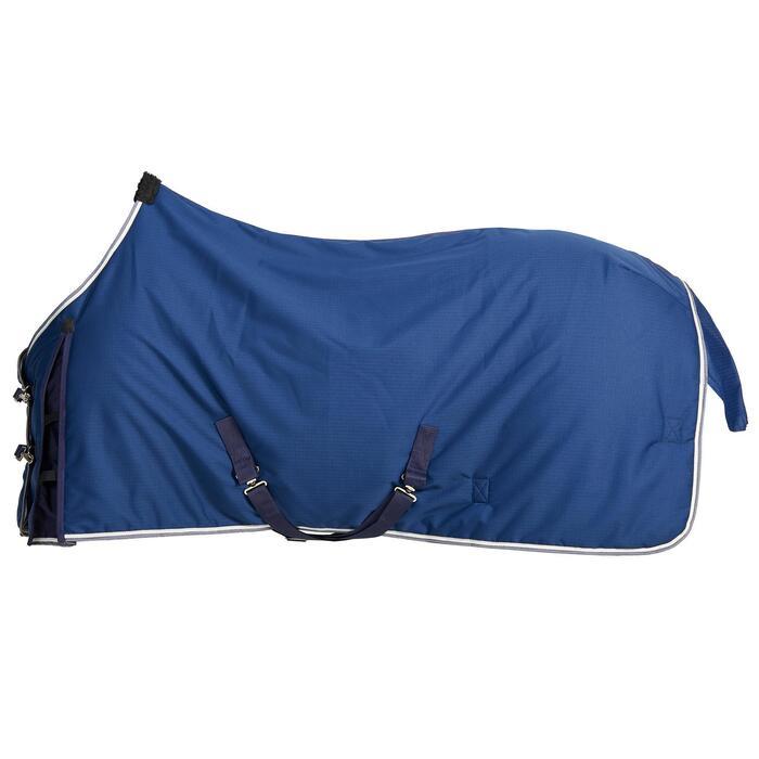 Couverture d'écurie équitation cheval et poney STABLE 300 bleu turquin