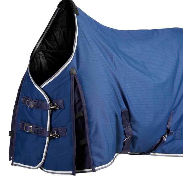 Manta de cuadra equitación STABLE 300 azul turquí - talla poni