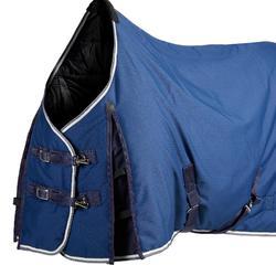 Staldeken ruitersport Stable 300 donkerblauw - maat pony