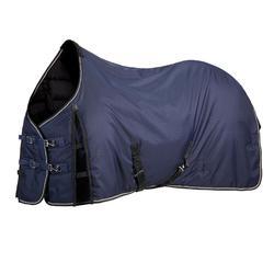 Manta de cuadra equitación caballo y poni STABLE 300 azul marino