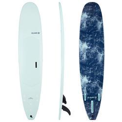 """Foam surfboard 9"""" Longboard 900. Inclusief 2 +1 vinnen."""