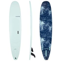 """Surfboard Soft Top Longboard 9"""" 900. Inclusief 2 +1 vinnen."""