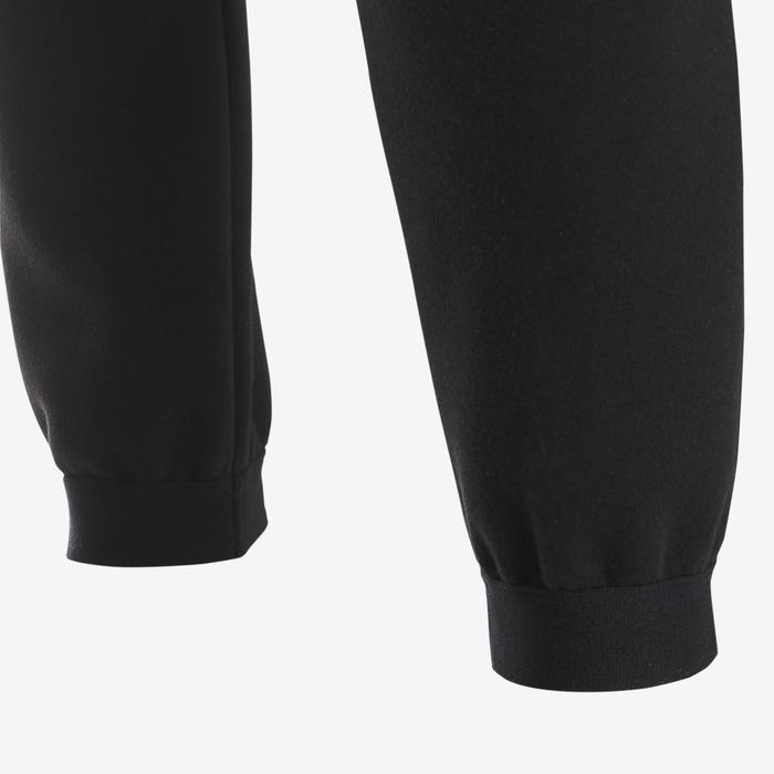 Pantalon chaud slim, coton respirant, résistant 500 garçon GYM ENFANT noir