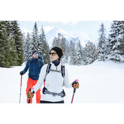 Hybridjacke Winterwandern SH900 Extra-Warm Damen blau