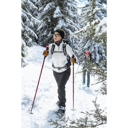 Women's Warm Water-repellent Snow Walking Pants with Gaiters SH520 X-Warm
