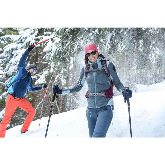 Veste polaire de randonnée neige femme SH500 x-warm bleu