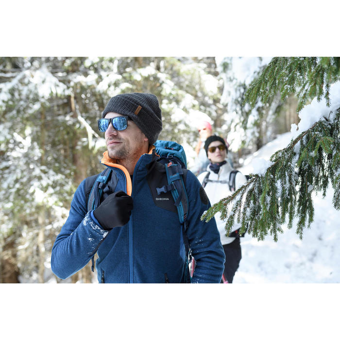 Chaqueta polar de senderismo nieve hombre SH500 x-warm rojo azul.
