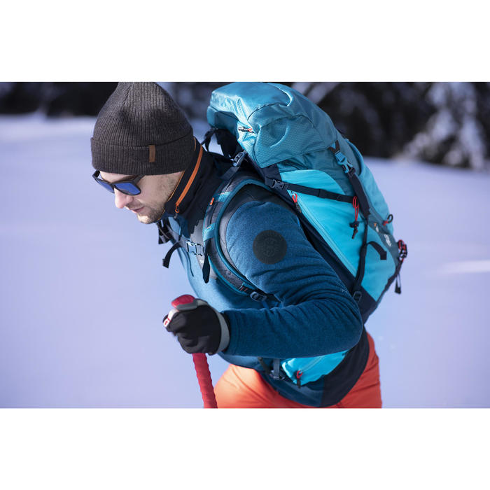 Veste polaire de randonnée neige homme SH500 x-warm bleue gris
