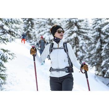 Hybride fleece jas voor sneeuwwandelen dames SH900 X-warm wit
