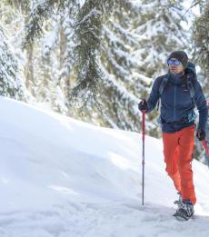 como escolher raquetes de neve, os conselhos quechua caminhada neve