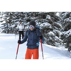 Chaqueta polar de senderismo nieve hombre SH500 x-warm azul gris