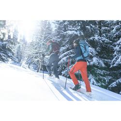 Pantalon chaud de randonnée homme SH520 x-warm rouge.