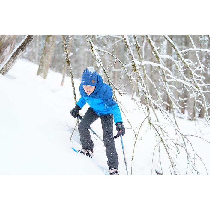 Softshellhose Winterwandern SH500 X-warm Kinder Jungen 123-172cm grau