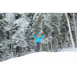 Pantalon chaud de randonnée SH500 X-WARM garçon 7-15 ans gris