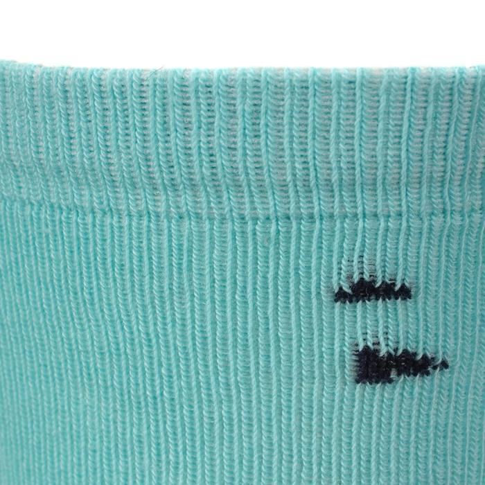 Chaussettes équitation 500 BABY gris et turquoise avec motifs