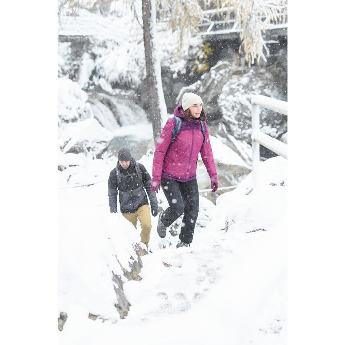 Snowboots dames SH100 Warm mid kaki