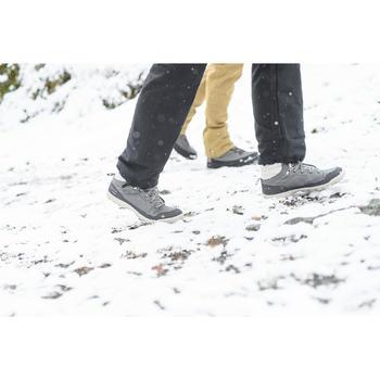 Dameswandelschoenen voor de sneeuw SH100 Warm mid kaki