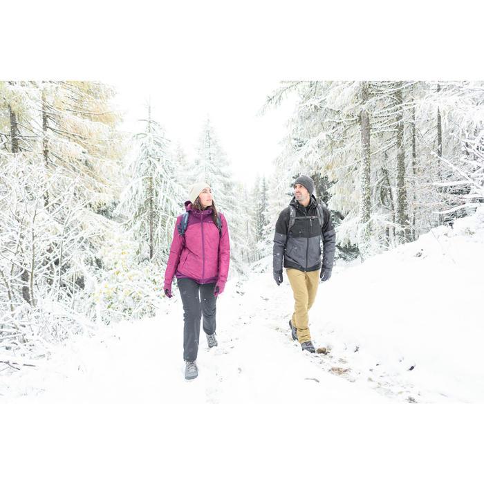 Winterschuhe SH100 Warm Halbhoch Damen schwarz