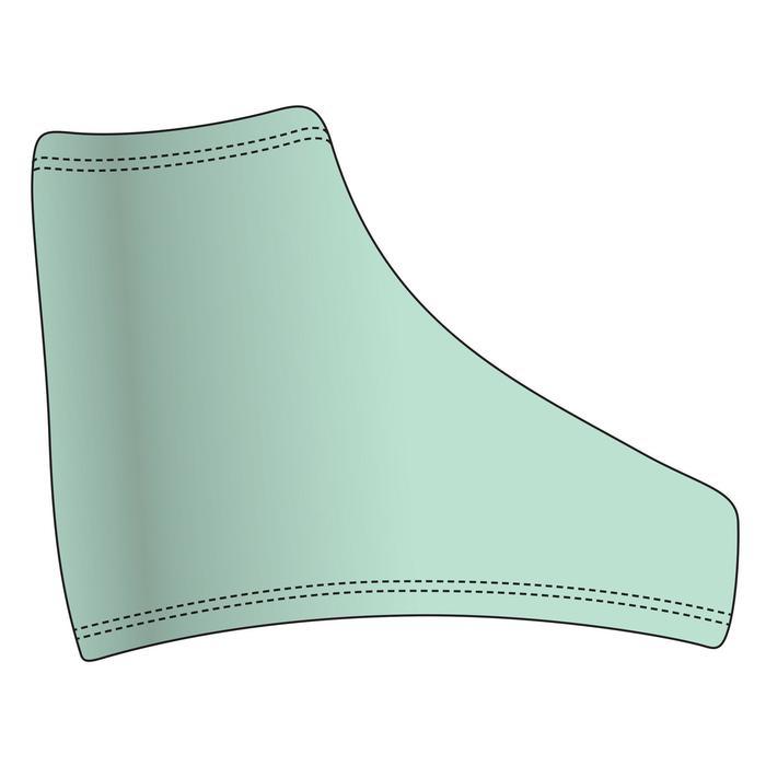 Cache-patins artistique bleu vert