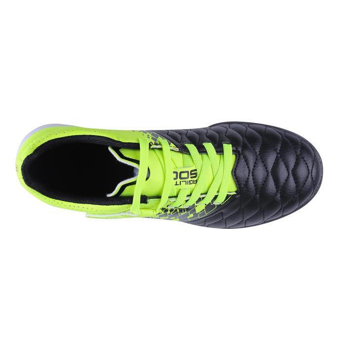 兒童款硬地魔鬼氈足球鞋Agility 500 HG-黑色/黃色