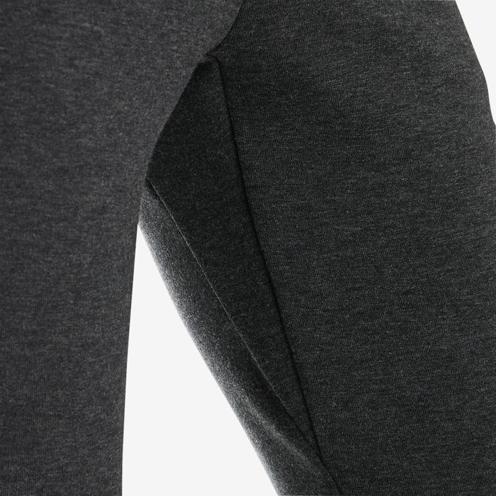 Pantalon chaud slim, coton respirant, résistant 500 garçon GYM ENFANT gris