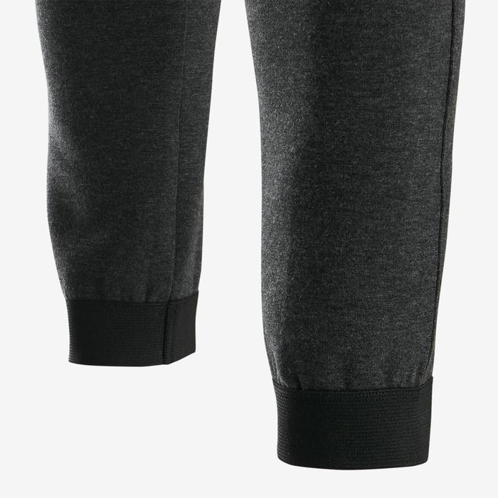 Pantalon chaud slim, coton respirant, résistant 500 garçon GYM ENFANT gris chiné