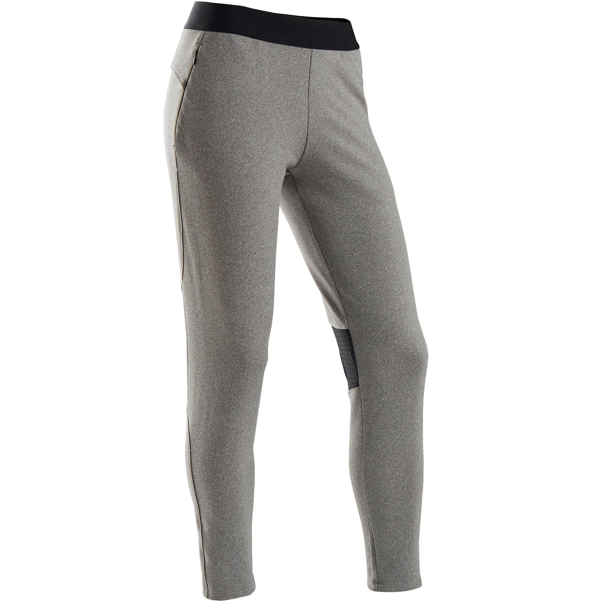 Trainingshose Slim warm atmungsaktiv S900 Gym Kinder grau
