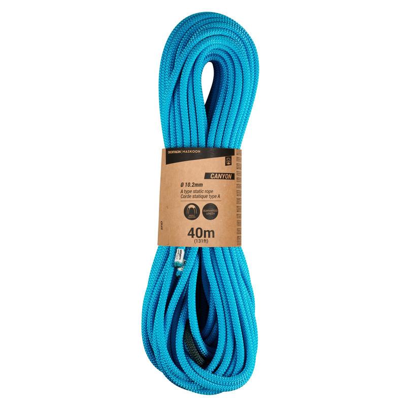 Cuerda semiestática Canyoning tipo A CANYON 10.2 mm x 40 m
