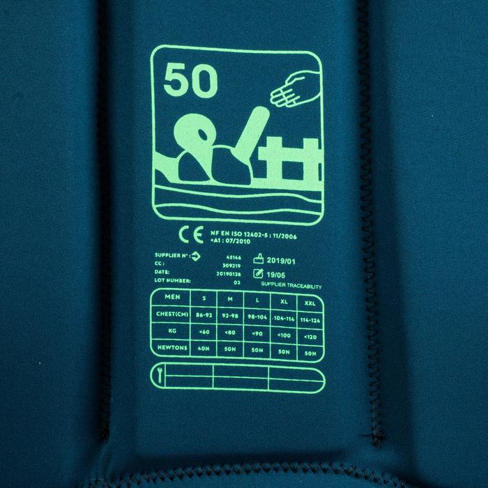 Wakeboardvest met 50 Newton drijfvermogen