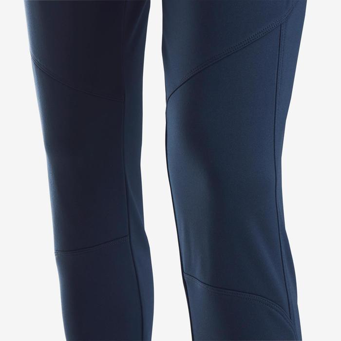 Pantalon chaud respirant S500 fille GYM ENFANT marine/ ceinture imprimée bleue